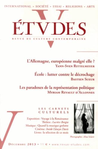 Yann-Sven Rittelmeyer et Bastien Sueur - Etudes N° 4196, Décembre 20 : .