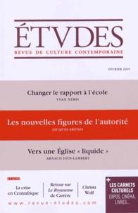 Jacques Arènes et Yvan Nemo - Etudes N° 4213, février 201 : Les nouvelles figures de l'autorité.