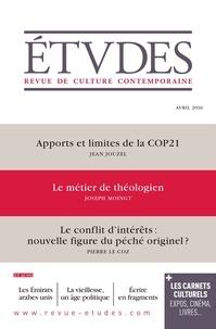 Jean Jouzel et Joseph Moingt - Etudes N° 4226, Avril 2016 : .
