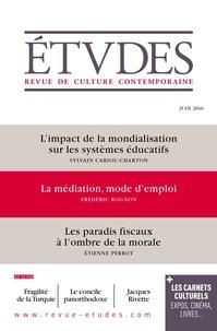 Sylvain Cariou-Charton - Etudes N° 4228 - Juin 2016 : .