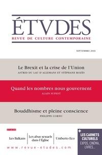 Astrid du Lau d'Allemans et Stéphane Rozès - Etudes N° 4230, septembre 2 : Le Brexit et la crise de l'Union.