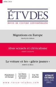 François Euvé - Etudes N° 4259, avril 2019 : .