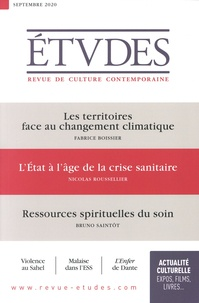 François Euvé - Etudes N° 4274, septembre 2 : Les territoires face au changement climatique ; L'Etat à l'âge de la crise sanitaire ; Ressources spirituelles du soin.