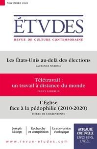 François Euvé - Etudes N° 4276, novembre 20 : Les Etats-Unis au-delà des élections ; Télétravail : un travail à distance du monde ; L'Eglise face à la pédophilie (2010-2020).