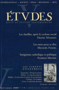 Daniel Maximin et Michaël Foessel - Etudes Septembre 2009 : .