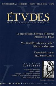 Antoine de Tarlé et Maria Michela Marzano - Etudes Tome 411 N° 1-2 (411 : .
