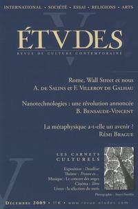 Antoine de Salins et François Villeroy de Galhau - Etudes Tome 411 N° 6 (4116) : .
