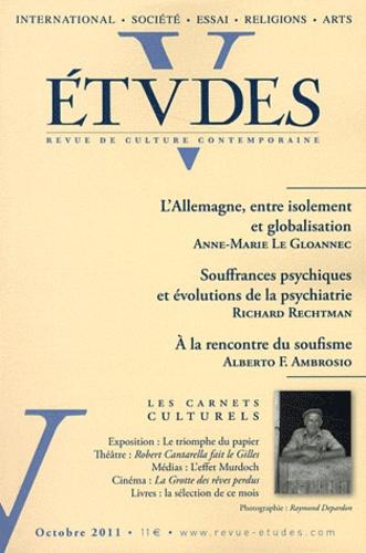 Anne-Marie Le Gloannec et Richard Rechtman - Etudes Tome 415 N° 4 (4154) : .