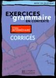 Hachette - Exercices de en contexte niveau intermédiaire - Corrigés.