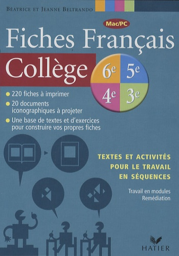 Fiches Francais College Cd Rom