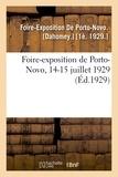 De porto-novo Foire-exposition - Foire-exposition de Porto-Novo, 14-15 juillet 1929.