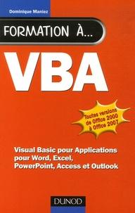 Dominique Maniez - Formation à VBA.