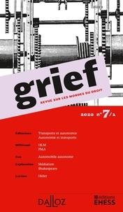 Olivier Cayla et Rainer Maria Kiesow - Grief N° 7/1/2020 : .
