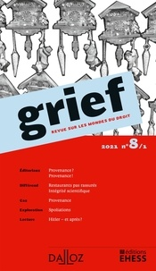 Olivier Cayla et Rainer Maria Kiesow - Grief N° 8/1/2021 : .