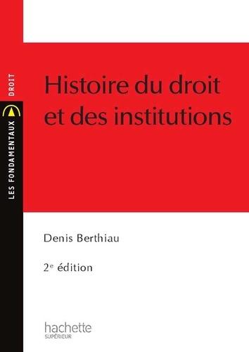 Histoire du droit et des institutions 2e édition