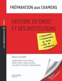 Pascal Vielfaure - Histoire du droit et des institutions.