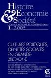 Pierre Chaunu - Histoire, Economie & Société Janvier 2005 : Cultures politiques, identités sociales en Grand-Bretagne.