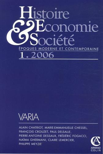 Naïma Ghermani et Paul Delsalle - Histoire, Economie & Société N° 1/2006 : .
