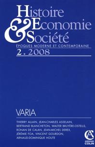 Ronan de Calan et Thierry Allain - Histoire, Economie & Société N° 2, 2008 : .