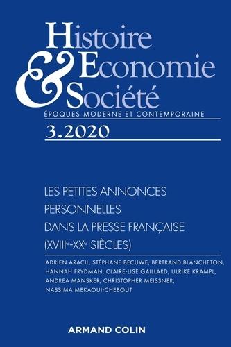 Isabelle Dasque - Histoire, Economie & Société N° 3, septembre 2020 : Les petites annonces personnelles dans la presse française (XVIIIe-XXe siècles).