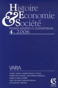 Guido Alfani et Marie-Clarté Lagrée - Histoire, Economie & Société N° 4, 2006 : .