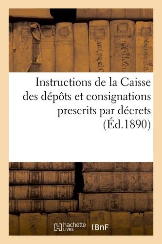 Hachette BNF - Instructions de la Caisse des dépôts et consignations relatives aux versements.
