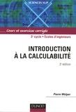 Pierre Wolper - Introduction à la calculabilité - Cours et exercices corrigés.
