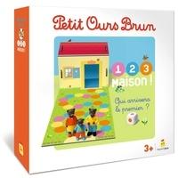 Danièle Bour - Jeu Petit Ours Brun 1,2,3, Maison ! - Contient : 1 plateau, 3 figurines, 1 dé.
