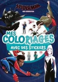 Hachette Jeunesse - Mes coloriages avec des stickers Spider-Man New Generation.