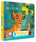 Hachette Jeunesse - Mon petit livre puzzle le Roi Lion - 5 puzzles, 9 pièces.