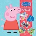 Hachette Jeunesse - Mon petit livre puzzle Peppa Pig - 5 histoires et puzzles.