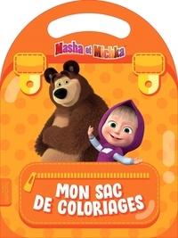Hachette Jeunesse - Mon sac de coloriages Masha et Michka.