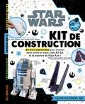 Hachette Jeunesse - Star Wars Kit de construction - Un livre d'activités pour monter sans outils et sans colle R2-D2 et la navette de Kylo Ren !.