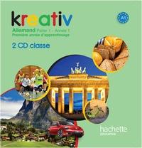 Katrin Goldmann - Kreativ Allemand Palier 1 Année 1 - Support pour la classe. 2 CD audio
