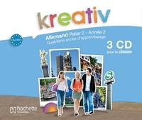 Katrin Goldmann - Kreativ Allemand Palier 2 Année 2 - Support pour la classe. 3 CD audio