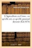 Giovacchini - L'Agriculture en Corse, ce qu'elle est, ce qu'elle pourrait devenir, suivie de quelques leçons.