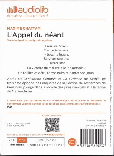 L'appel du néant  avec 2 CD audio MP3