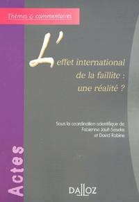 David Robine - L'effet international de la faillite : une réalité ?.