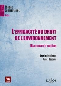 Olivera Boskovic - L'efficacité du droit de l'environnement - Mise en oeuvre et sanctions.