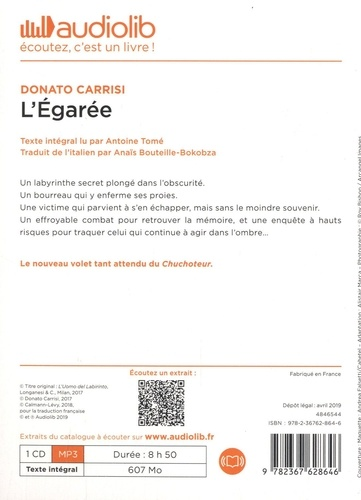 L'Egarée  avec 1 CD audio MP3
