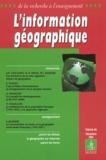 J-M Coccaro et René-Paul Desse - L'information géographique N° 66 Décembre 2003 : .