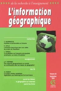 Tamatoa Bambridge et Fernand Avila - L'information géographique N° 68, Septembre 200 : .