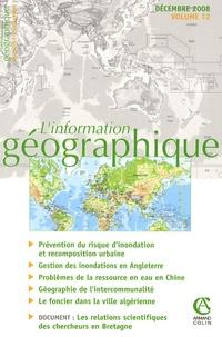Sylvain Rode - L'information géographique N° 72, Décembre 2008 : .