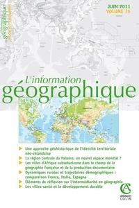Anne Collin Delavaud et Catherine Fournet-Guérin - L'information géographique N° 75, Juin 2011 : .