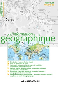 Isabelle Lefort - L'information géographique N° 80, juin 2016 : Corps.