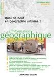 Cynthia Ghorra-Gobin et Flaminia Paddeu - L'information géographique N° 81, septembre 201 : Quoi de neuf en géographie urbaine ?.