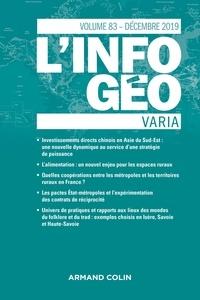 Isabelle Lefort et Hervé Regnauld - L'information géographique N° 83, décembre 2019 : Varia.