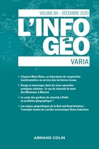 Isabelle Lefort et Hervé Regnauld - L'information géographique N° 84, décembre 2020 : Varia.