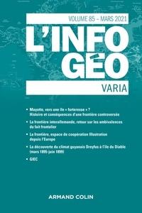 Isabelle Lefort et Hervé Regnauld - L'information géographique N° 85, mars 2021 : .