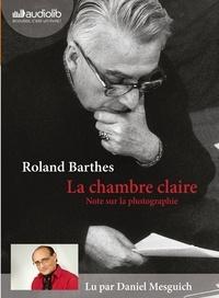 Roland Barthes - La chambre claire - Notes sur la photographie. 1 CD audio MP3